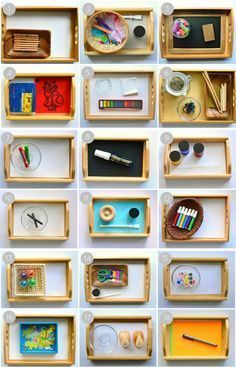 Montessori art activities for toddlers. Here are some ideas for 2-year-olds