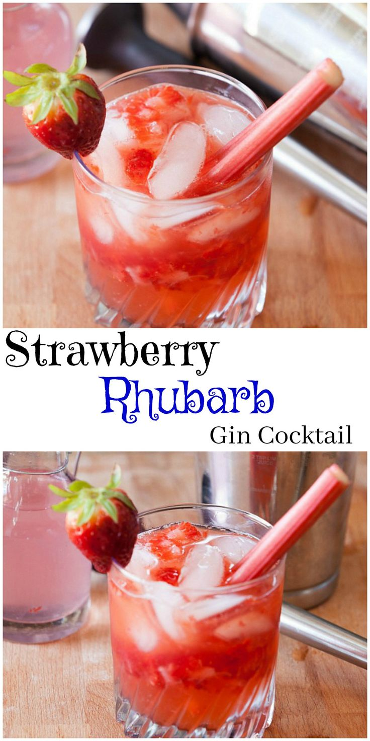 Best Gin Cocktail - Fresh strawberries, homemade simple syrup - my favorite drink