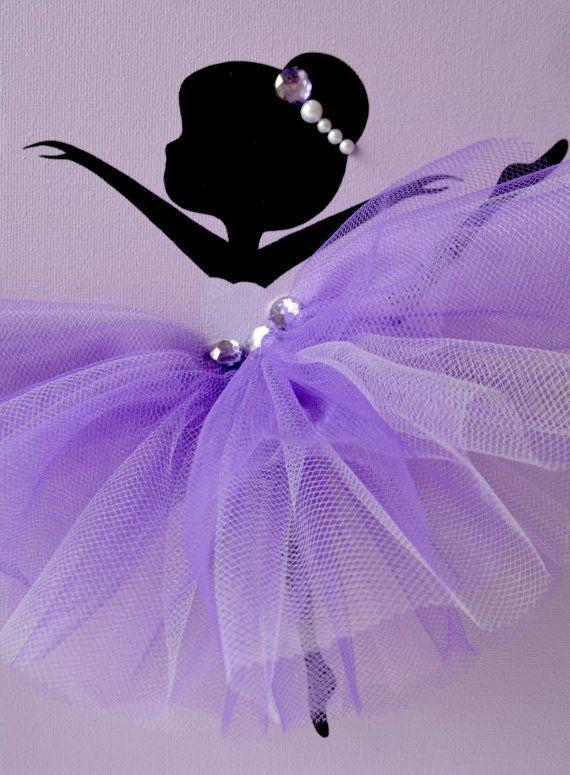 Tutu Ballerinas. Lavender Ballerina Wall art. Nursery wall