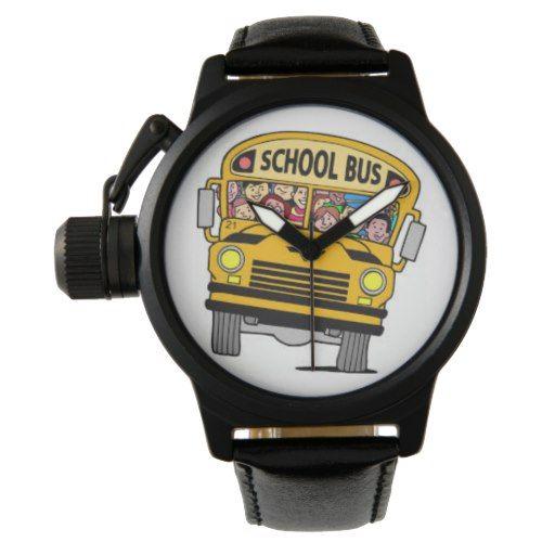School bus driver wrist watch