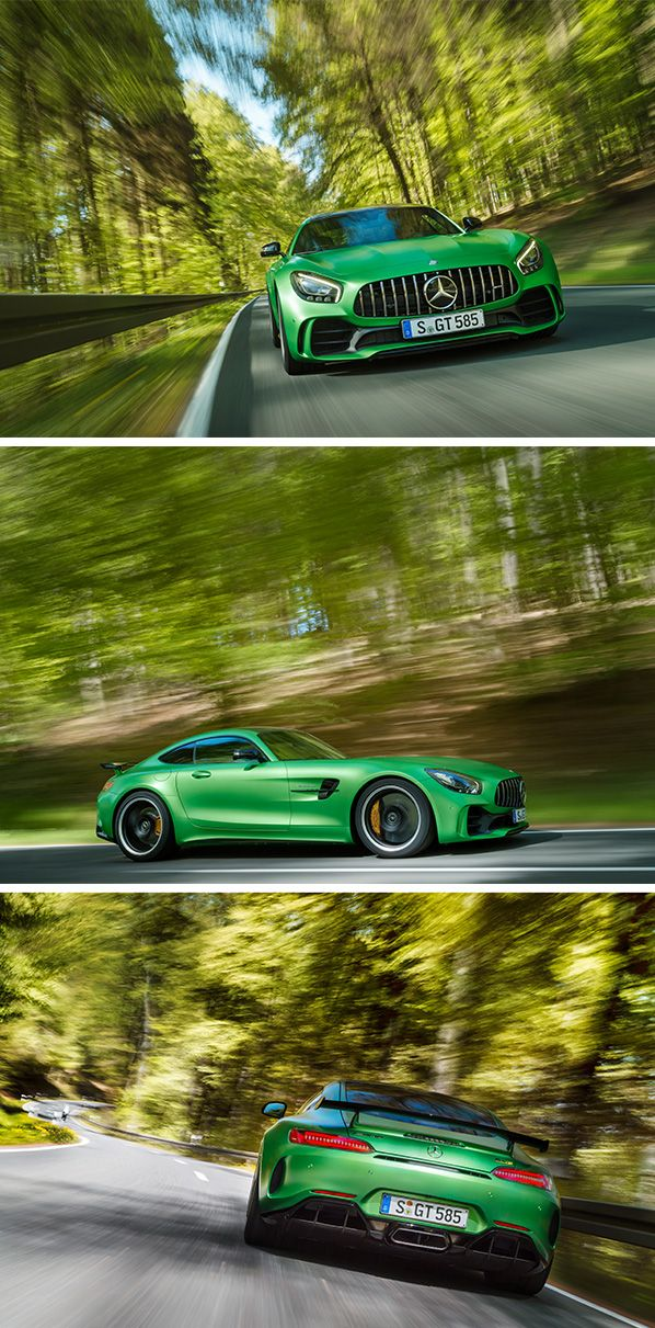 From the world's most demanding racetrack directly onto the road: Never before has Mercedes-AMG packed so much motorsport technology into a production vehicle than into the new AMG GT R. #BeastoftheGreenHell [Combined fuel consumption: 11.4 l/100 km | Combined CO2 emissions: 259 g/km | http://benz.me/EfficiencyStatement]