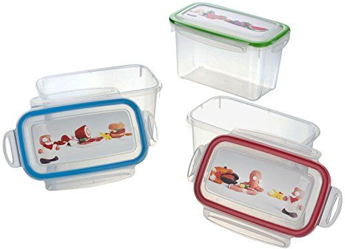 Haushaltsdose Absolut luftdichte Frischhaltedosen 3er Set rot/gr�n/blau 1,1l