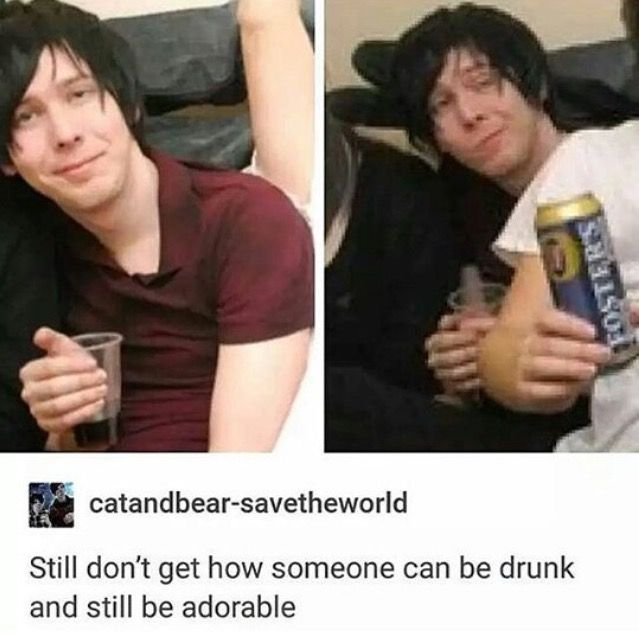 never thought id see a pic of drunk phil but here we go