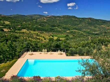 Holiday house, part of an agricultural estate, with beautiful view from the pool. Close to Montalcino.    http://www.interhome.se/english/italy/maremma+volterra/castel+del+piano/it5459.640.1