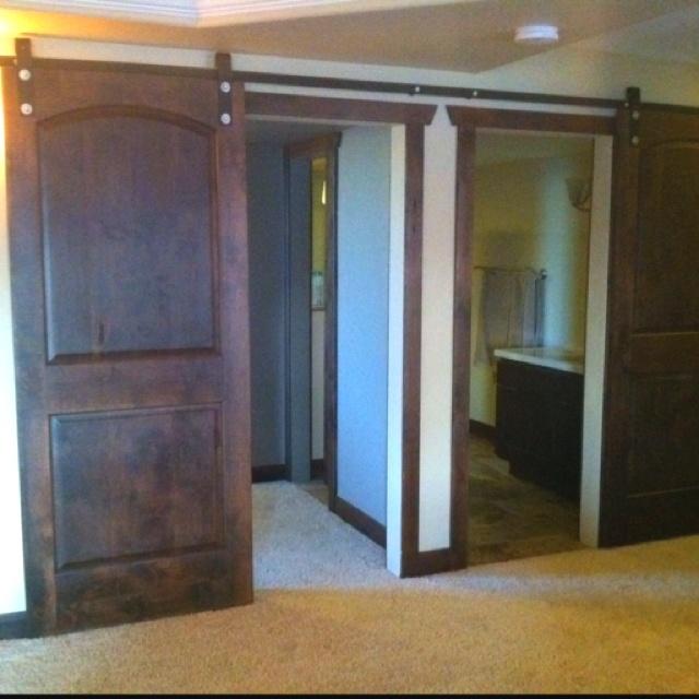 1000 images about barn doors on pinterest for Basement sliding doors