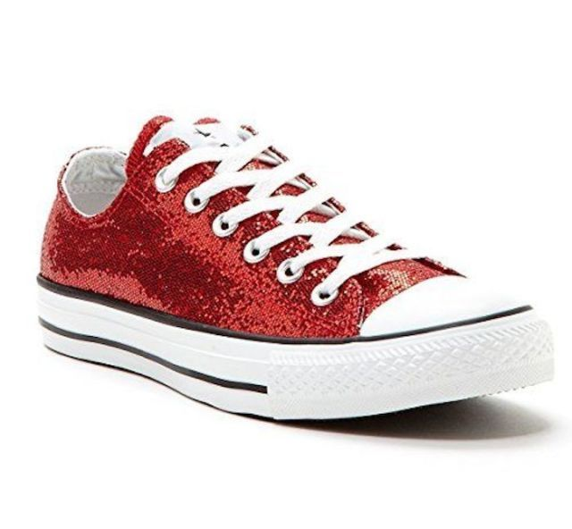 CONVERSE All-Star Ox Lo Top Sneakers Chuck Taylor Red Glitter 136085F NIB Sz 6 | eBay