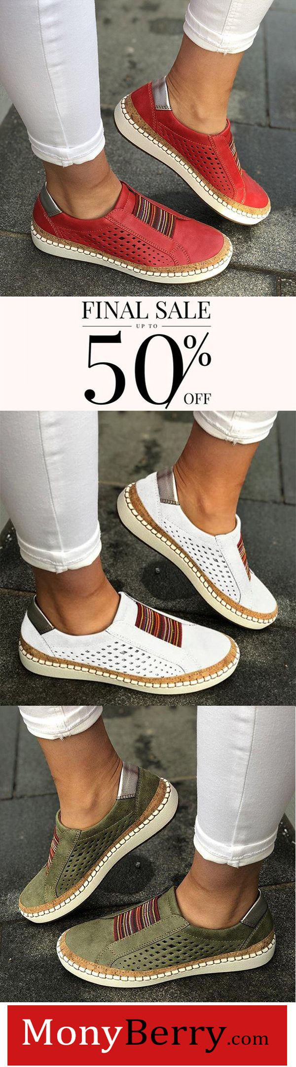 Comfortable Flat Bottom Breathable Shoes
