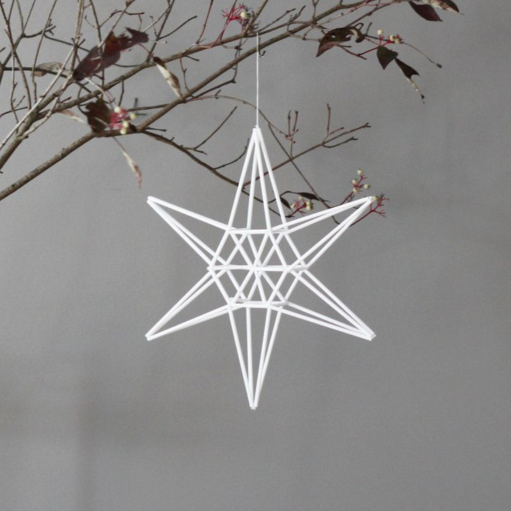 star himmeli hanging mobile--need to make this with natural straw.