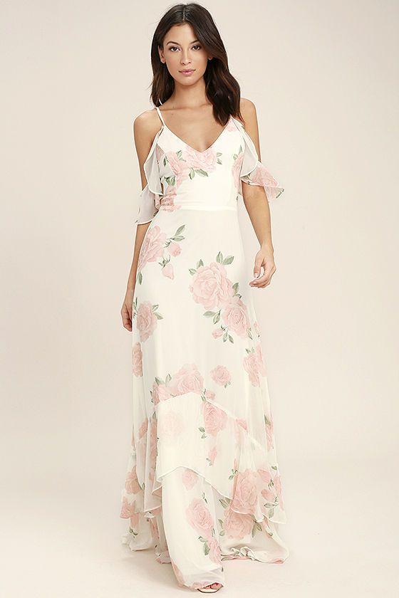 Debut green floral print maxi dress