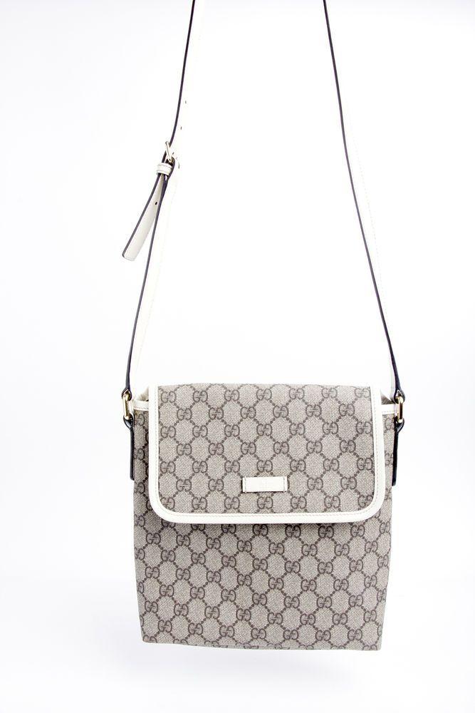 Auth GUCCI 223666 GG Canvas Shoulder Bag Corssbody Messenger Beige Brown #Gucci #MessengerShoulderBag