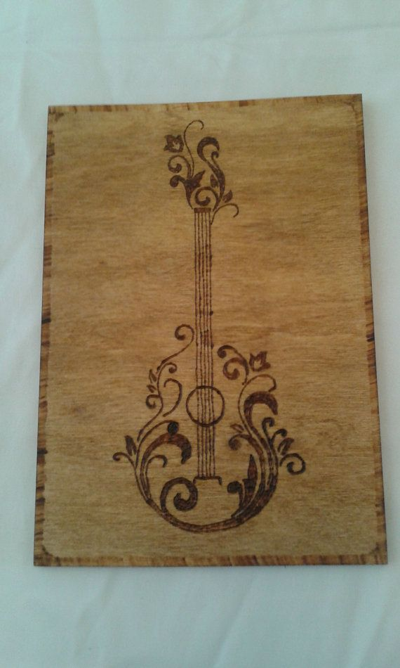 Guitar Vector Art Wood Burning Pyrography FREE by MtnHeirlooms $10