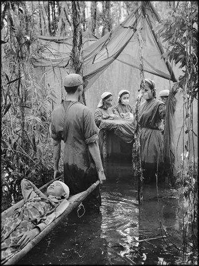 NLF hospital near the Cambodian border. Vietnam War 1970