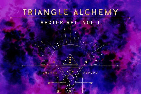 Triangle Alchemy - Vector Set by Diane Pascual on @creativemarket