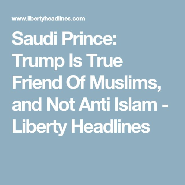 The Saudis get it. They understand what the President is trying to do. Too bad the Democrats want to play Russian Roulette with the lives of the American people in order to appease the far left.