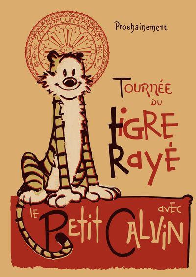 Le Tigre Rayé :) Calvin e Hobbes rivisited by Arinesart.  For Mattie's room.