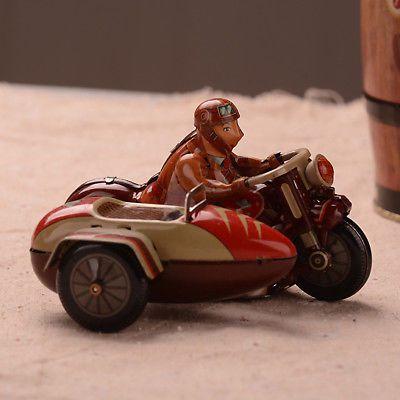 Antique-Style-Tin-Toys-Wind-Up-iron-Metal-Models-motorcycle-Decoration-Clockwork