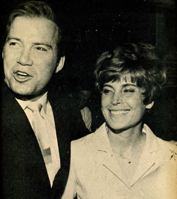 William Shatner holding his first wife Gloria Rand