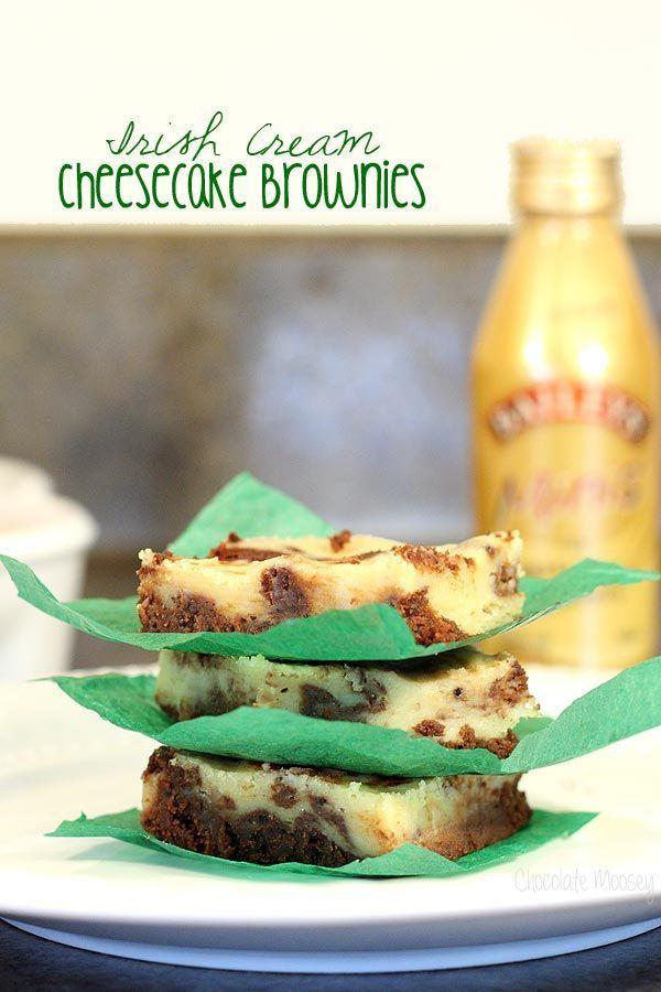 These Irish Cream Cheesecake Brownies combine fudge brownies and cream ...