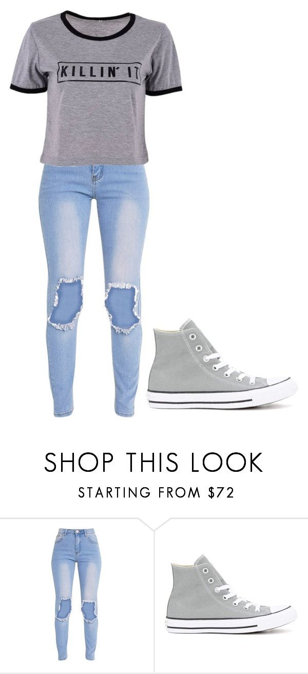 """""""Untitled #391"""" by thenerdyfairy on Polyvore featuring Converse"""