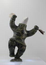 Spirit Dancer carved by Kellipalik Etidloie, a talented Inuit artist from Cape Dorset