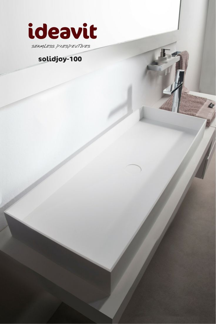 Code:290027 solidjoy-100 Freestanding washbasin Size : 1000x375x110 mm Solid surfaces White matt Thin edge 6 mm