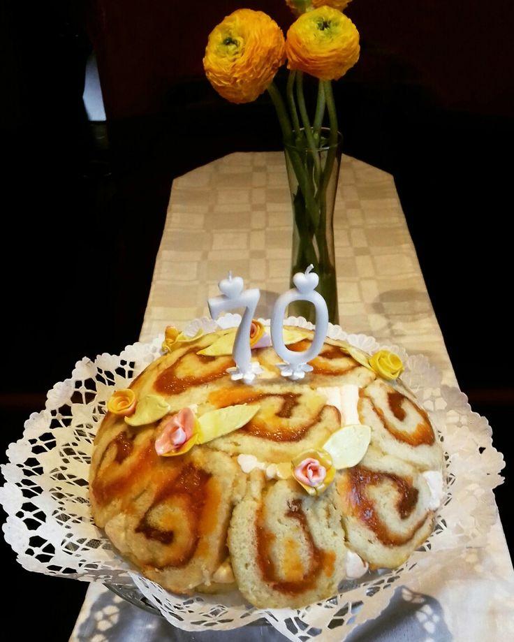 Barackos túrós charlotte torta
