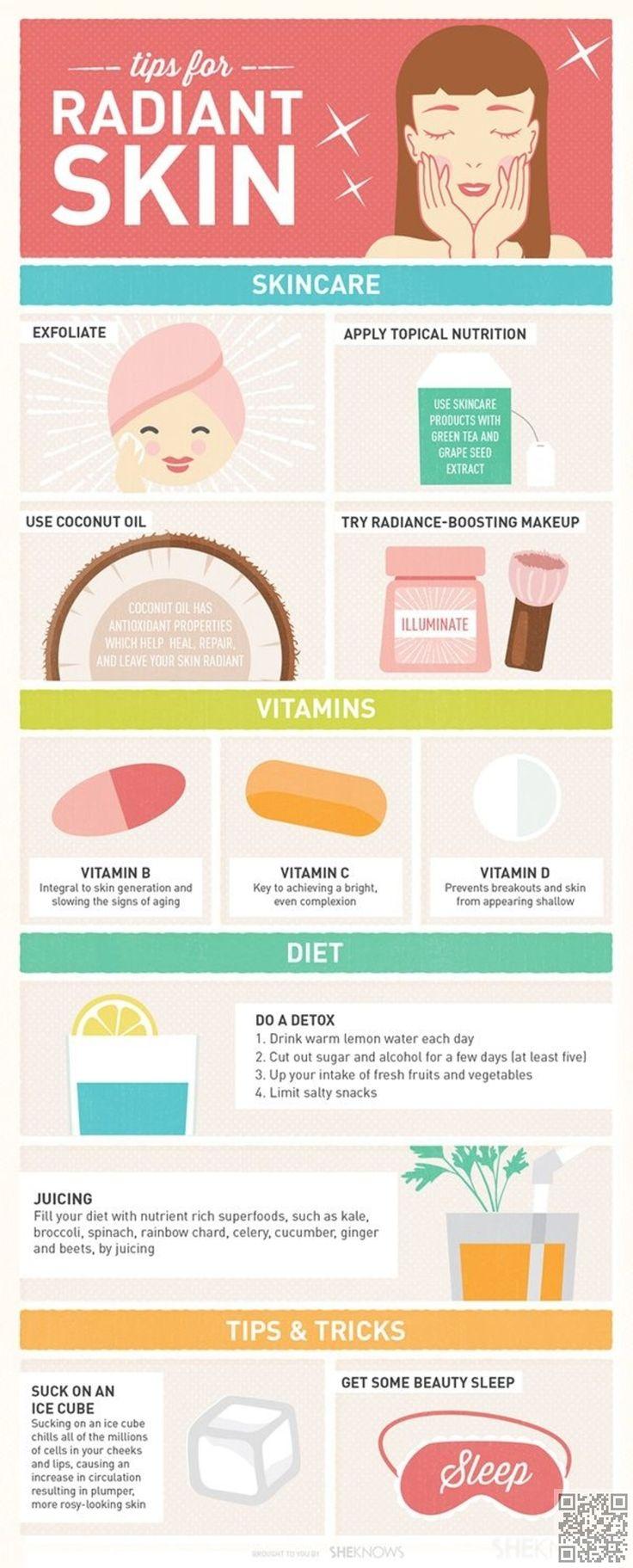 18. 5 #consejos para la piel radiante - #Tendencia piel mistake: 29 #infografías para ayudarle a #destacar su camino #hacia la perfección... → #Skincare