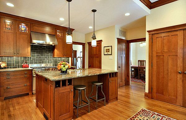 Lighted top cupboards Decor Ideas for Craftsman-Style Homes