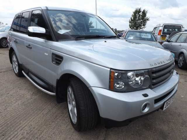 2007 Range Rover Sport 2.7 TDV6 HSE 5-door auto saloon. Silver. Click on pic shown for loads more.