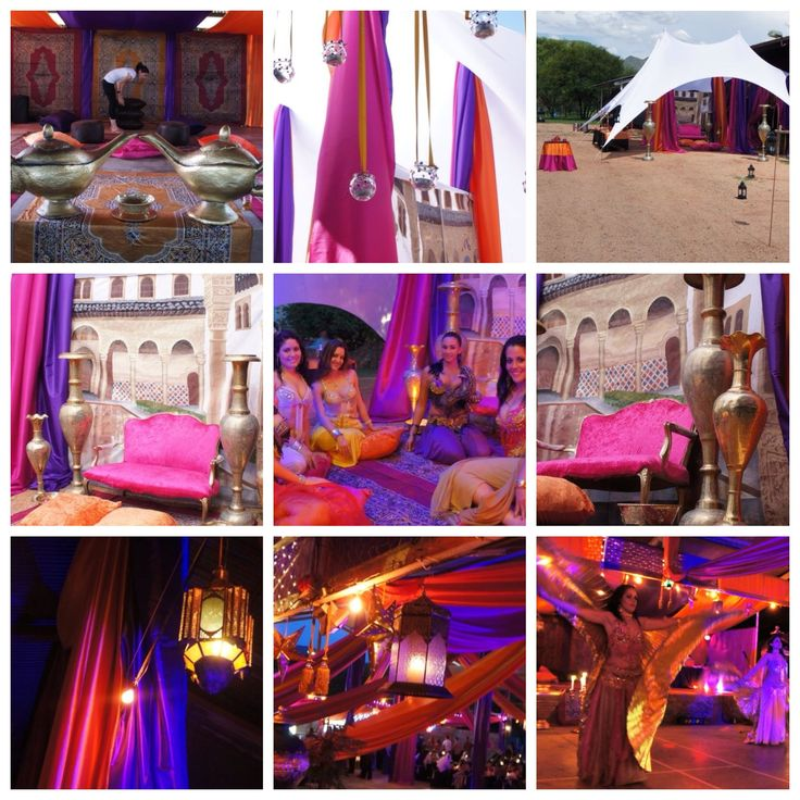 Arabian themed / A Thousand & One nights event. Event coordination by Creative Collective