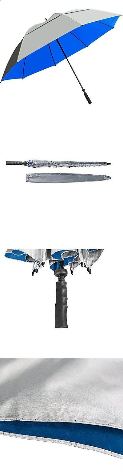 Golf Umbrellas 18933: Sun Tek 68 Uv Protection Wind Cheater Vented Canopy Silver/Blue Umbrella -> BUY IT NOW ONLY: $31.76 on eBay!