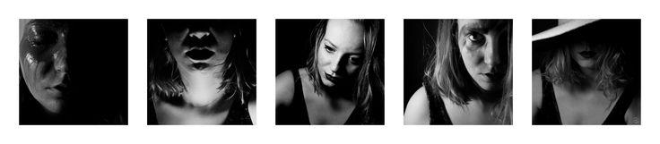the set of self-portraits, photography, black and white, nikon