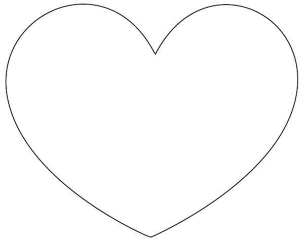 Molde coração para cortina