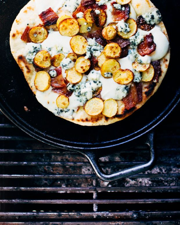 is SO good), and blue cheese. Bacon and potato are a heavenly pizza ...
