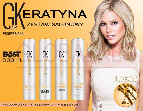 Keratyna do włosów zestaw salonowy GK Hair The Best 300ml Global Keratin Juvexin Warszawa Sklep #no.1 #globalker http://globalker.pl/keratyna-do-zabiegow/835-GK-HAIR-ZESTAW-KERATYNA-THE-BEST-300ml-GLOBAL-KERATIN.html