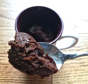 3-Ingredient Nutella Microwave Mug Brownie