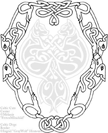 Celtic Dogs border tattoo by Illahie.deviantart.com on @deviantART, could be used as a line of them under my left breast.