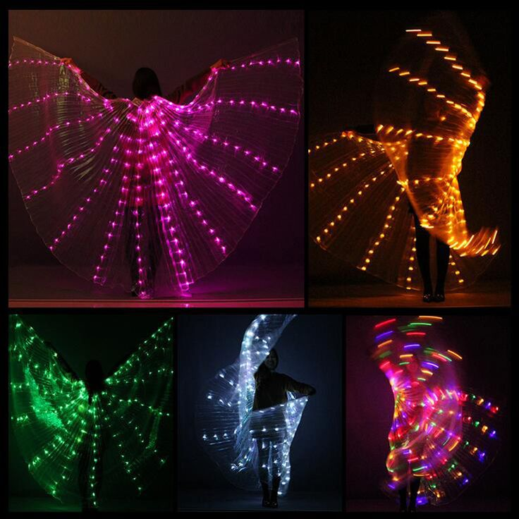 LED Wings //Price: $83.00 & FREE Shipping //     #edmlifestyle
