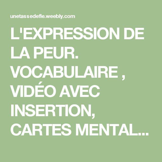 L'EXPRESSION DE LA PEUR. VOCABULAIRE , VIDÉO AVEC INSERTION, CARTES MENTALES, JEU