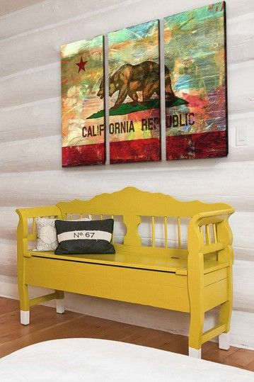 California Republic Canvas Print - Set of 3 by Neon Pop Art on @HauteLook