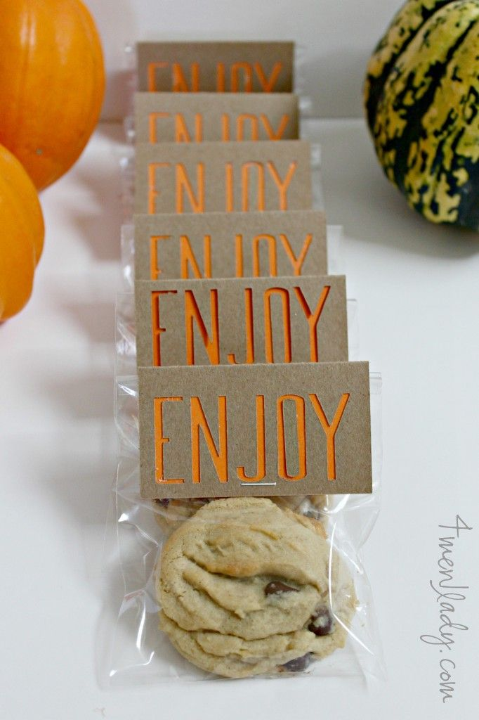 Simple party favour - right sized bag for treat, simple label stapled on top.