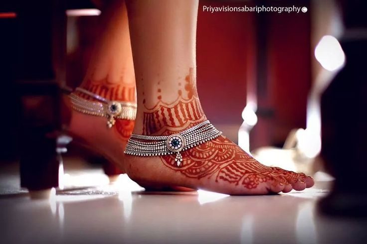 Beautiful bridal payal or anklet in silver