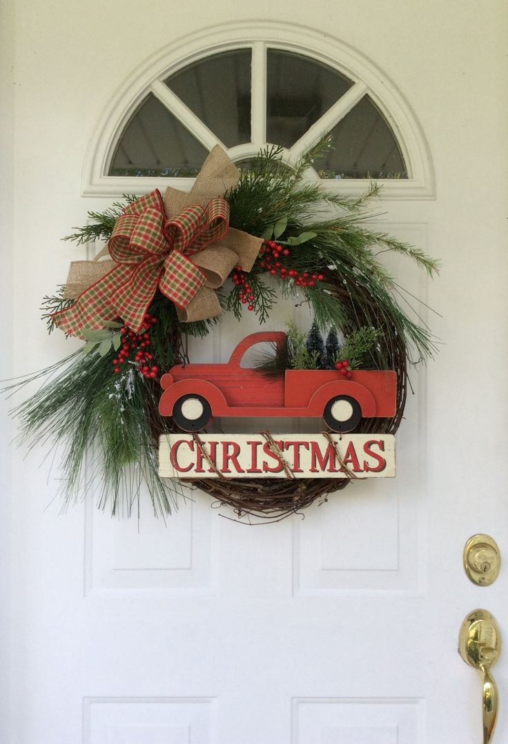 Christmas Wreath for Front Door Holiday Wreath Winter Wreath Old
