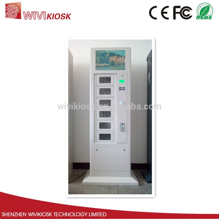 public application touch screen cell phone fast charging kiosk machine