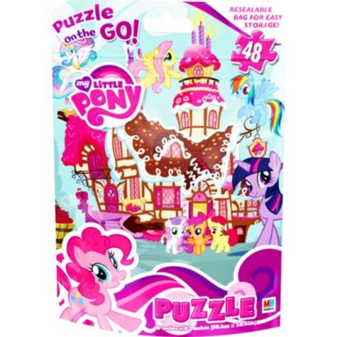 My Little Pony Puzzle Bag 48pc - Party City -purchased