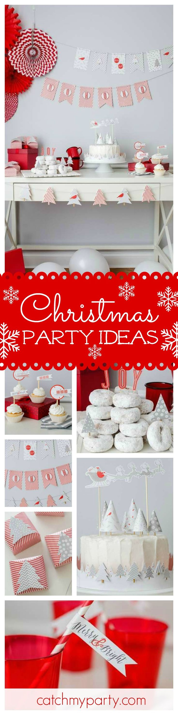 With the holidays coming up don't miss this fun Merry and Bright Christmas party!  Love the cake!! See more party ideas and share yours at CatchMyParty.com