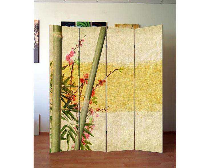 Bamboo and cherries,πτυσσόμενο διαχωριστικό (Παραβάν)