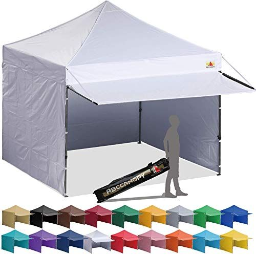Enjoy Exclusive For Abccanopy Canopy Tent 10 X 10 Pop Up Instant Shelters Commercial Portable Market Canopies Matching Sidewalls Weight Bags Roller Bag Bonus Canopy Awning Online Canopy Tent Pop Up Canopy Tent
