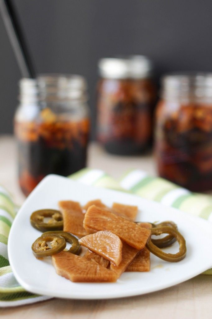 Pickled Korean Radish and Jalapeno - one of the best banchan's from Soft Tofu!
