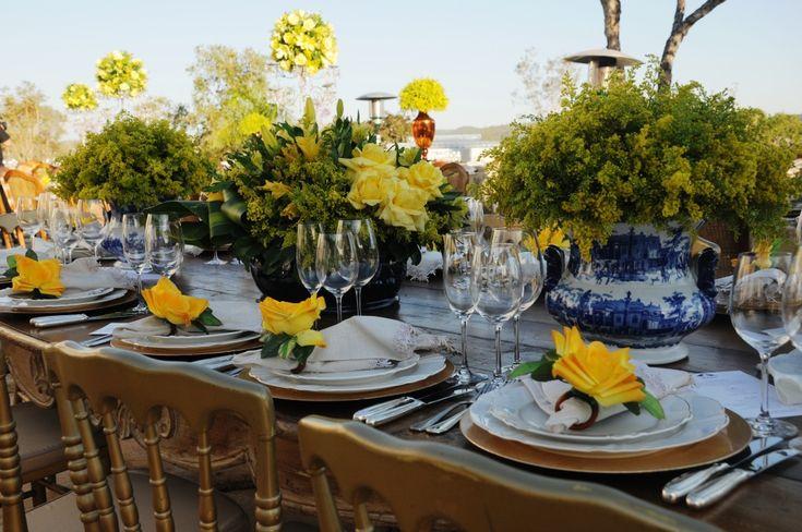 decoracao para casamento em azul e amarelo:Casamento, Mesas and Ems on Pinterest